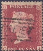 1857 1d Rose-red SG40 Plate 27 'CJ'